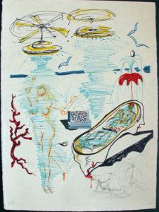 Salvador Dali - Dalinean Prophecy - Liquid Torando Bath Tub