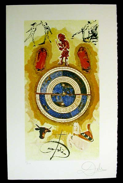 Salvador Dali - Lyle Stuart Tarot Cards - Wheel of Fortune
