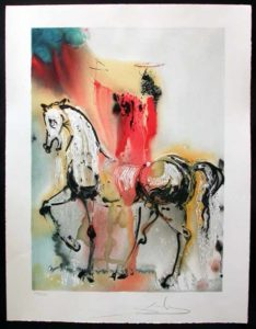 Salvador Dali - Dalinean Horses - Le chevalier Chretien