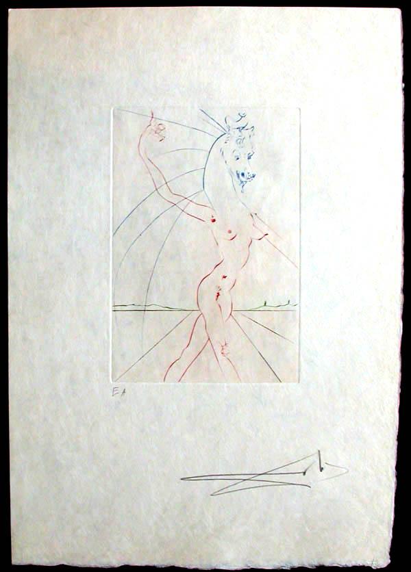 Salvador Dali - Femmes et Chevaux - L'Adoration
