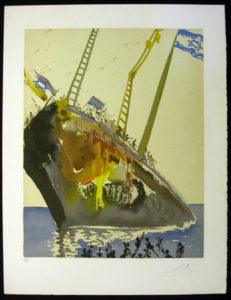 Salvador Dali - Individual Aliyah Lithographs for Sale - On the shores of Freedom