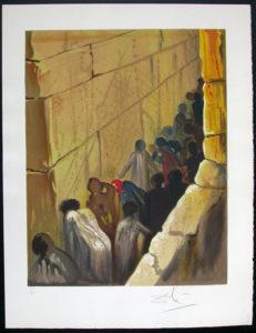 Salvador Dali - Individual Aliyah Lithographs for Sale - The Wailing Wall
