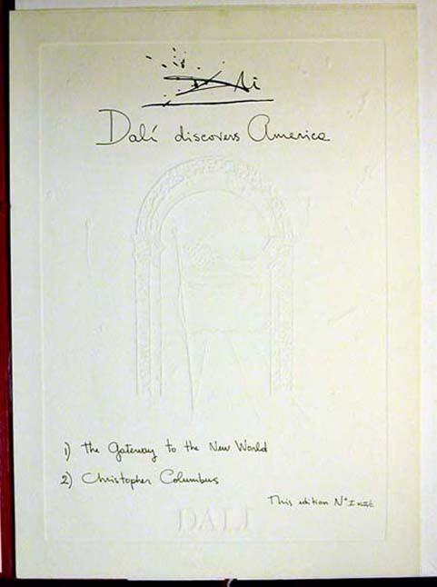 Salvador Dali - Dali Discovers America - Cover Sheet