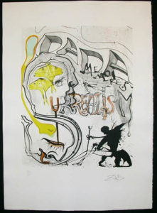 Salvador Dali - Memories of Surrealism Individual Photoliths - Angel of Dada Surrealism