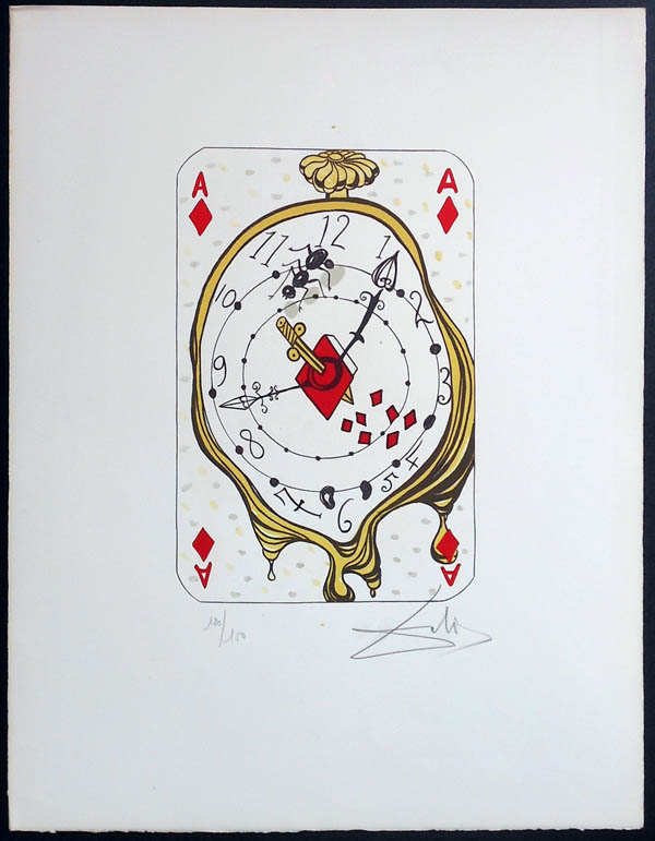 Salvador Dali - Playing Cards - Playing Cards Diamonds - Ace of Diamonds