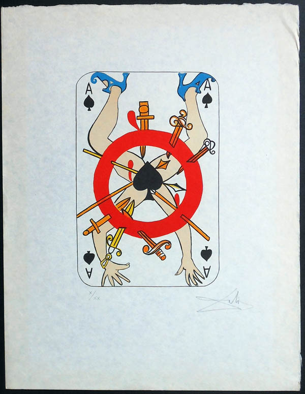 Salvador Dali - Playing Cards - Playing Cards Spades - Ace of Spades