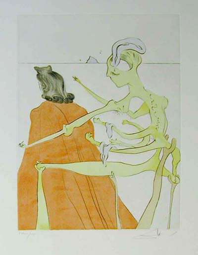 Salvador Dali - After 50 Years of Surrealism - The Divine Back of Gala