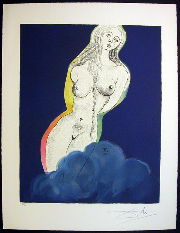 """Salvador Dali - Marquis de Sade - Allegory: """"Brave Cecile"""""""