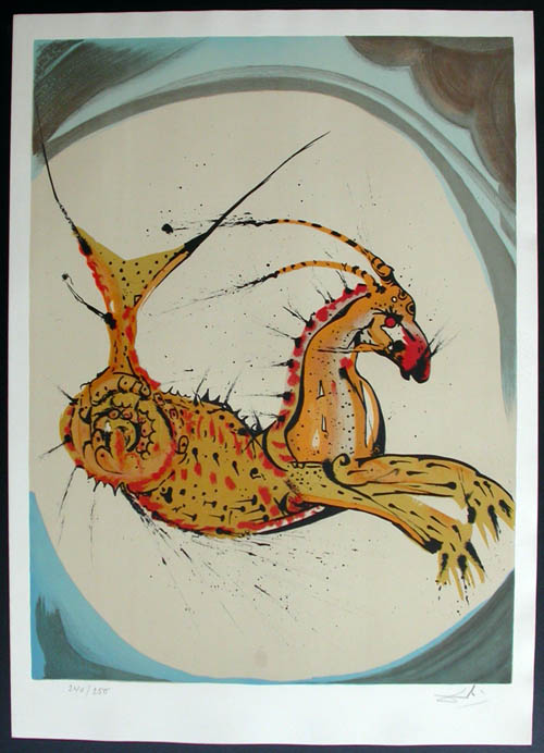 Salvador Dali - Twelve Signs of the Zodiac - Capricorn