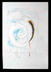 Salvador Dali - The Conquest of the Cosmos I - The Visceral Circle of theCosmos