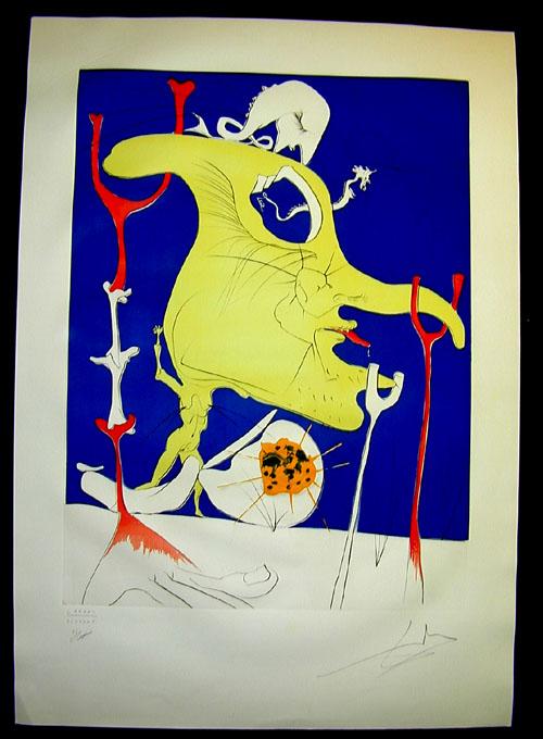 Salvador Dali - La Conquete du Cosmos I & II - The last comer from the last planetlithograph