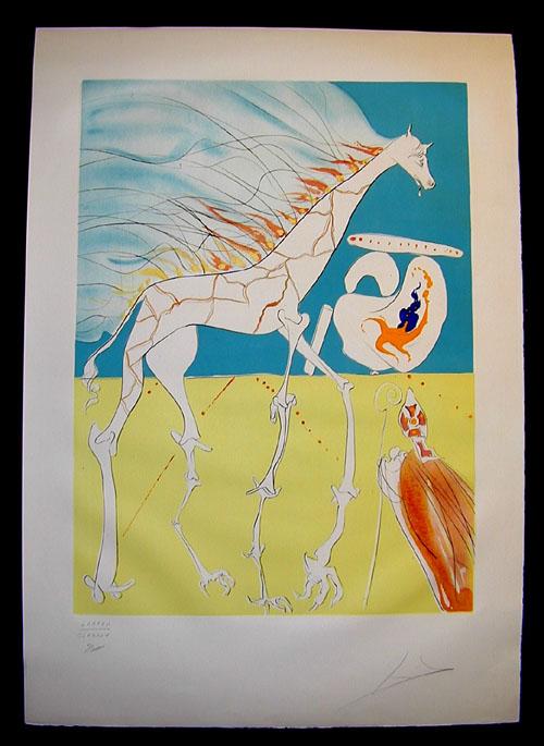 Salvador Dali - The Conquest of the Cosmos II - Saturnian Giraffe