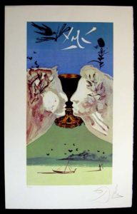 Salvador Dali - Lyle Stuart Tarot Cards - Ace of Cups