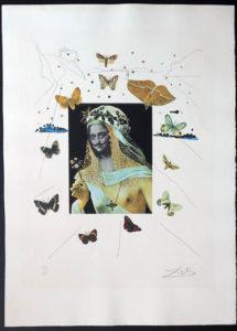 Salvador Dali - Memories of Surrealism Individual Photoliths - Surrealist Portrait of Dali Surrounded by Butterflies