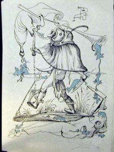 Salvador Dali - Les Songs (Songes) Drolatiques de Pantagruel - F