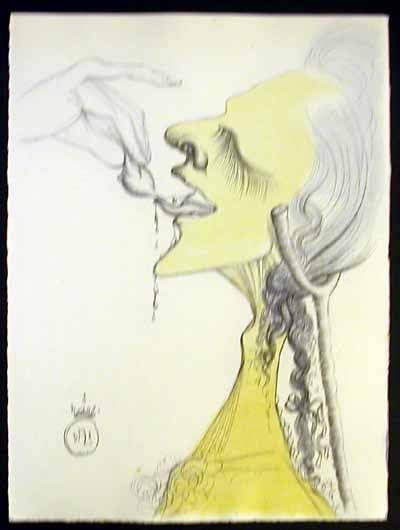 Salvador Dali - Dali Illustre Casanova - Bird on Tongue