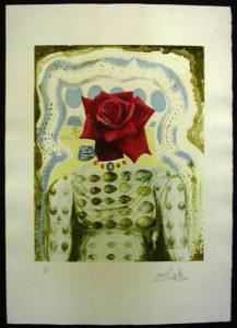 Salvador Dali - Memories of Surrealism Individual Photoliths - Surrealist Flower Girl