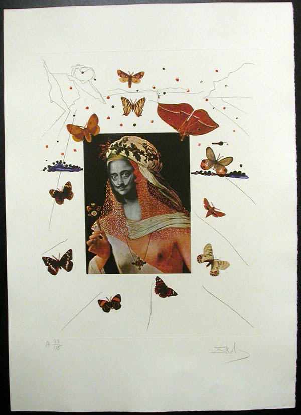 Salvador Dali - Memories of Surrealism - Surrealist Portrait of Dali Surrounded by Butterflies