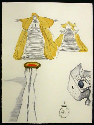 Salvador Dali - Dali Illustre Casanova - Eye Watches from Peephole
