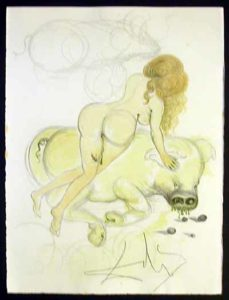 Salvador Dali - Dali Illustre Casanova - Girl and Pig