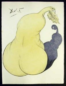 Salvador Dali - Dali Illustre Casanova - Pear and Nude Back