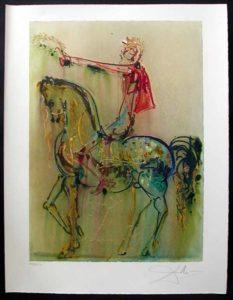 Salvador Dali - Dalinean Horses - Chevalier Roman