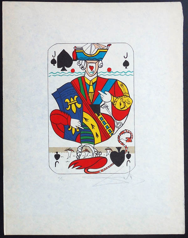 Salvador Dali - Playing Cards - Playing Cards Spades - Jack of Spades