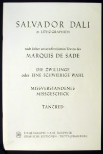 Salvador Dali - Marquis de Sade - Text and Justification