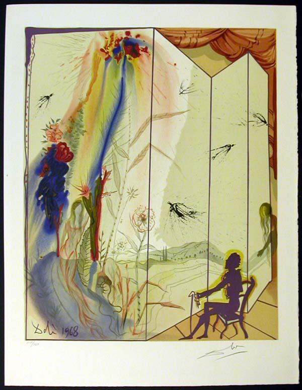 "Salvador Dali - Marquis de Sade - Allegory: ""Cecile's Chastity"""
