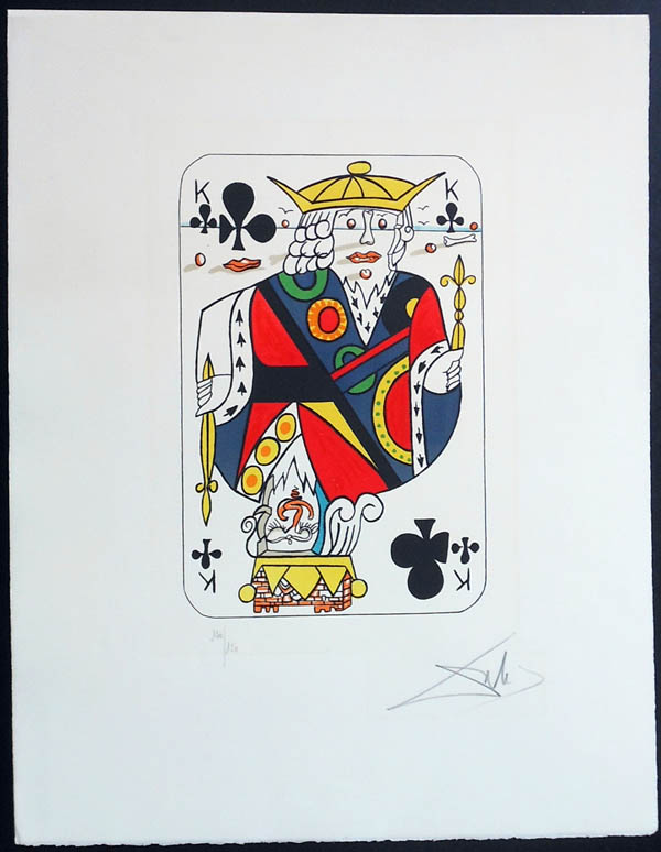 Salvador Dali - Playing Cards - Playing Cards Clubs - King of Clubs