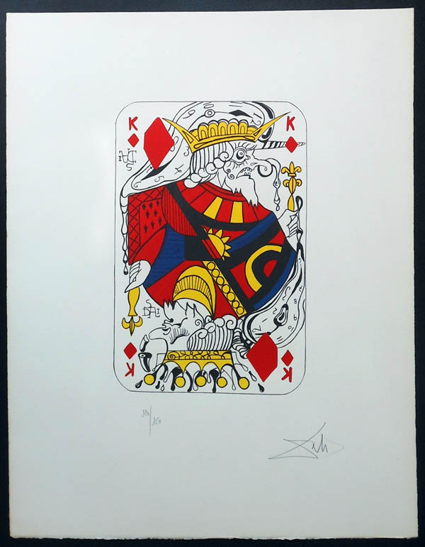 Salvador Dali - Playing Cards - Playing Cards Diamonds - King of Diamonds