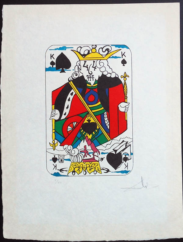 Salvador Dali - Playing Cards - Playing Cards Spades - King of Spades