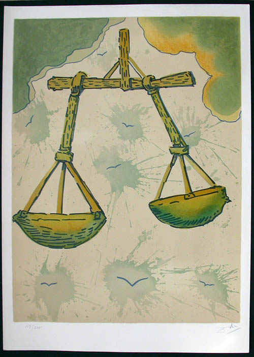 Salvador Dali - Twelve Signs of the Zodiac - Libra