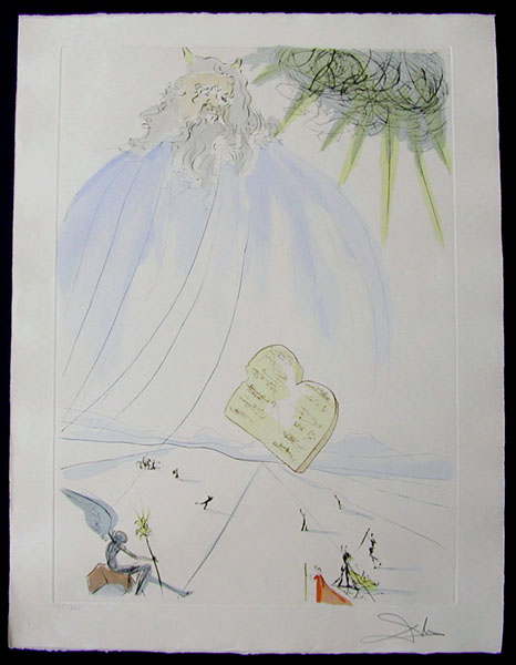 Salvador Dali - Our Historical Heritage - Moses drypoint etching