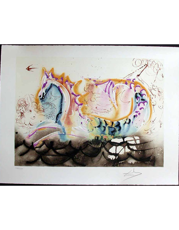 Salvador Dali - Dalinean Horses - Le Cheval Marin