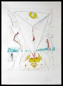 Salvador Dali - The Conquest of the Cosmos I - Philosopher Crushed by theCosmos