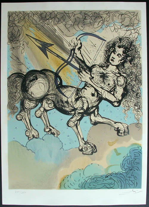 Salvador Dali - Twelve Signs of the Zodiac - Sagittarius