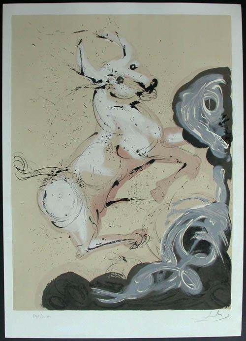 Salvador Dali - Twelve Signs of the Zodiac - Taurus