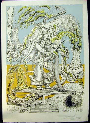 Salvador Dali - Les Songs (Songes) Drolatiques de Pantagruel - U