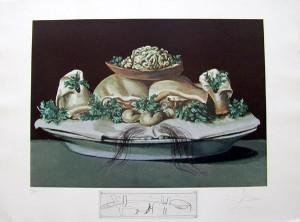 Salvador Dali - Les Diners de Gala - Supremes of  Lilliputian Malaises