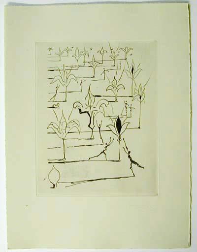 Salvador Dali - Poemes de Mao-tse-toung - flowers