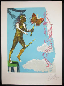 Salvador Dali - Magic Butterfly and the Dream - Magic Butterfly