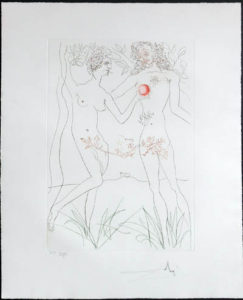 Salvador Dali - Famous Loves (Les Amours Celebres) - Adam and Eve