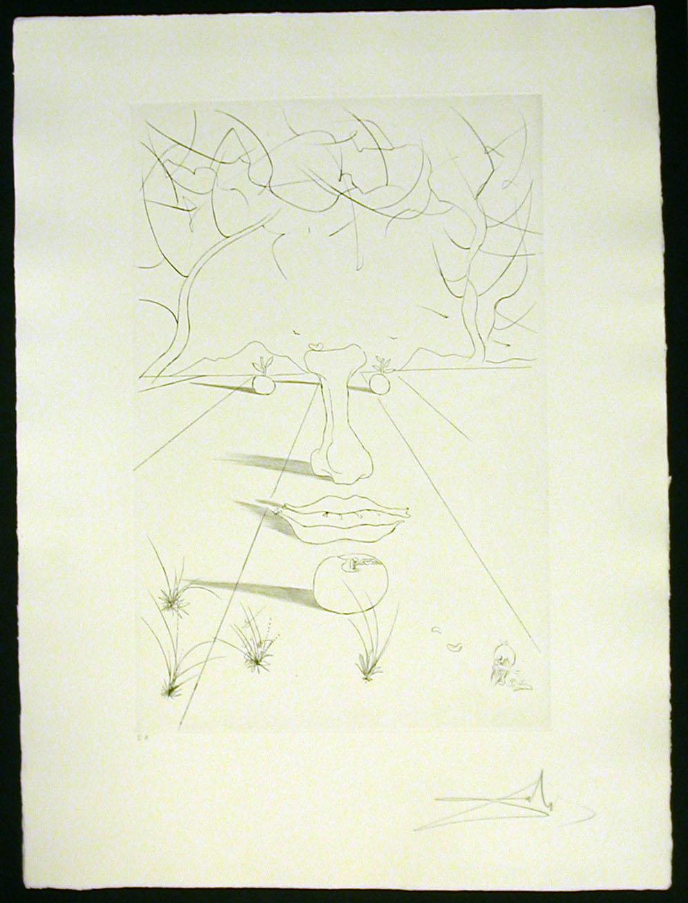 Salvador Dali - Aurelia - Visage Surrealiste