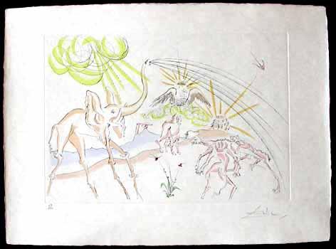 Salvador Dali - Le Bestiaire de La Fontaine - Les Animaux Malades de la Peste
