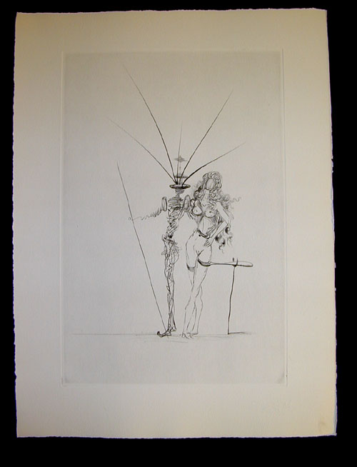 Salvador Dali - Secret Poems by Guillaume Apollinaire - Frontispiece