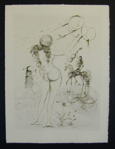 Salvador Dali - Secret Poems by Guillaume Apollinaire - Nude, Horse and Death