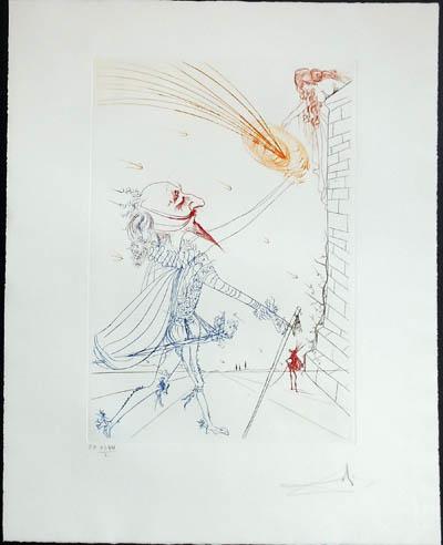 Salvador Dali - Famous Loves (Les Amours Celebres) - Cyrano de Bergerac and Roxanne