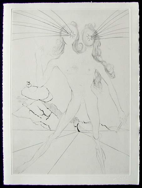 Salvador Dali - Les Amours de Cassandre - Bicephale