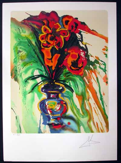 Salvador Dali - Fleurs Surrealistes (Flowers for Gala) - Gala's Bouquet